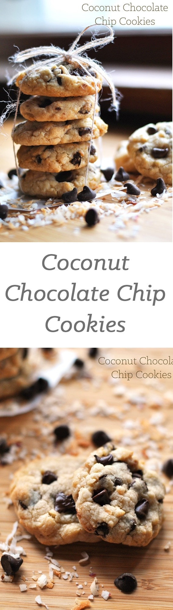 These coconut chocolate chip cookies are packed with coconut flavor ...