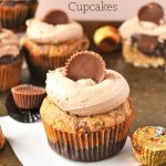 Marbled Reese's Peanut Butter Cupcakes