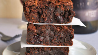 Red Wine Brownies Recipe with Drunken Cranberries