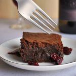 Red Wine Brownies with Drunken Cranberries