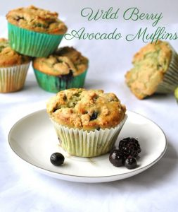 wild berry avocado muffins