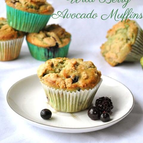 wild berry avocado muffins