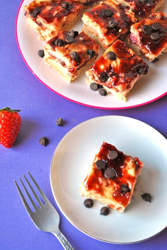 balsamic strawberry cheesecake bars