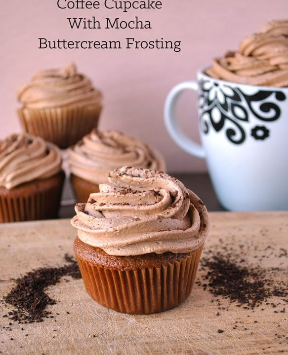 coffee cupcake with mocha buttercream frosting