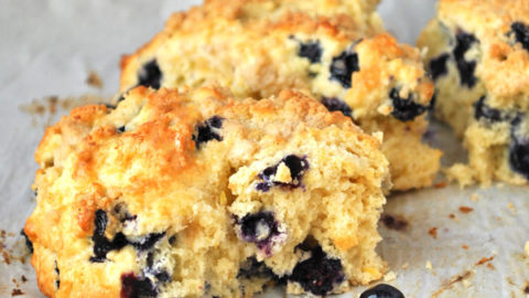 Lemon Blueberry Scones with Streusel Topping