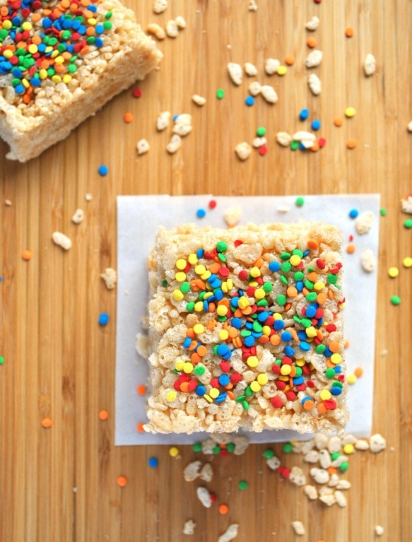 These brown butter rice krispie treats are nutty with an amazing depth of flavor. Grown up, but still very kid-friendly.