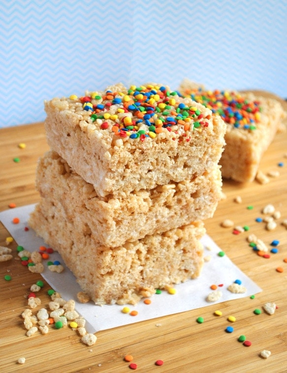 Everyone is going to fall in love with these brown butter rice krispie treats.