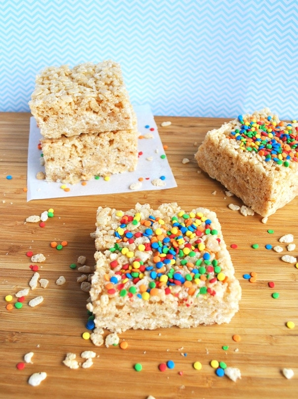 These brown butter rice krispie treats are a crowd pleasing treat; everyone will beg you for more!
