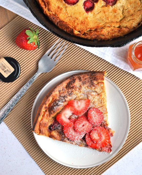 strawberry dutch baby pancake rosemary