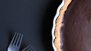 Salted Chocolate Tart with a Chai Shortbread Crust