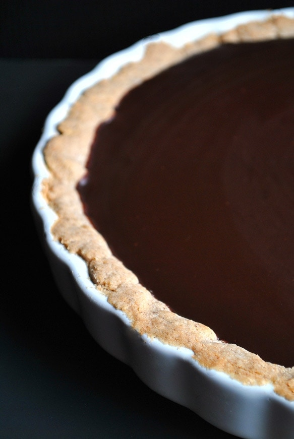 chocolate tart chai shortbread crust