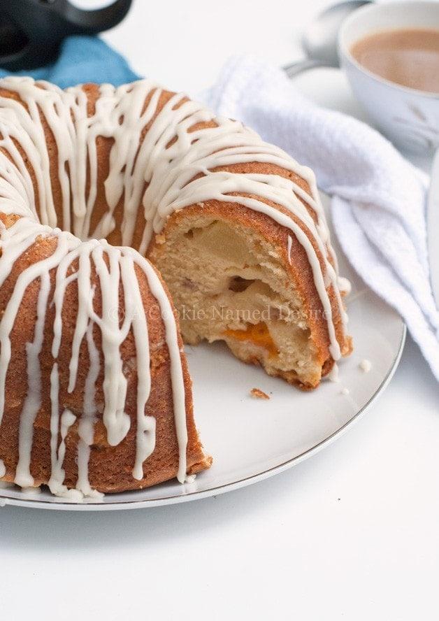 apricot peach cream cake