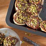 pistachio chocolate cinnamon rolls