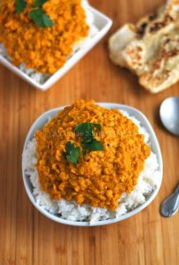simple red curry lentils