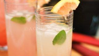 Rhubarb Grapefruit Lemonade