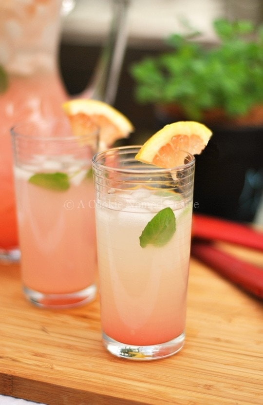 Go ahead and make a pitcher of rhubarb grapefruit lemonade. You deserve it!