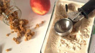 Peach Crumble Ice Cream Recipe