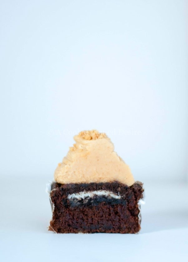 oreo nutter butter cookie cupcakes
