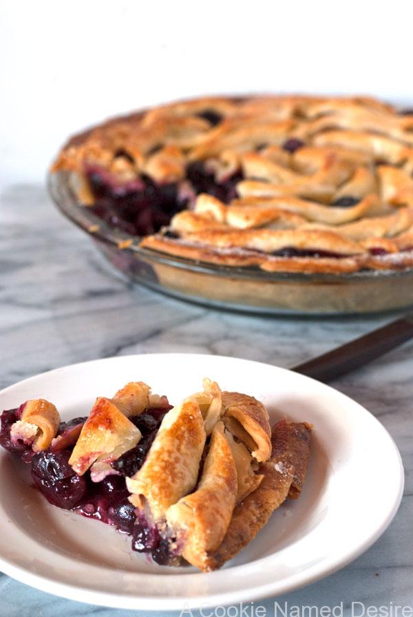 Bourbon Cherry Apple Pie