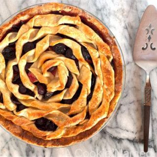 Cherry Apple Bourbon Pie