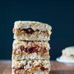 Peanut Butter and Jelly Rice Krispie Treat Crispycake Copycat | cookienameddesire.com