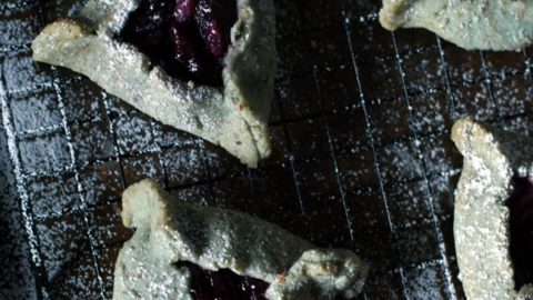 Blueberry Almond Cookies with Cherry Lychee Jam
