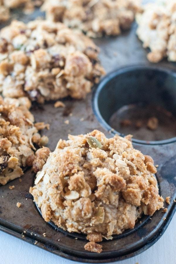 Banana Muesli Muffins | @cookiedesire