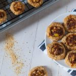 Apple Pie Thumbprint Cookies with Salted Dark Caramel | @cookiedesire