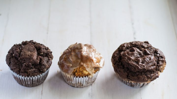 Skinny Gluten-Free Double Chocolate Chip Muffin
