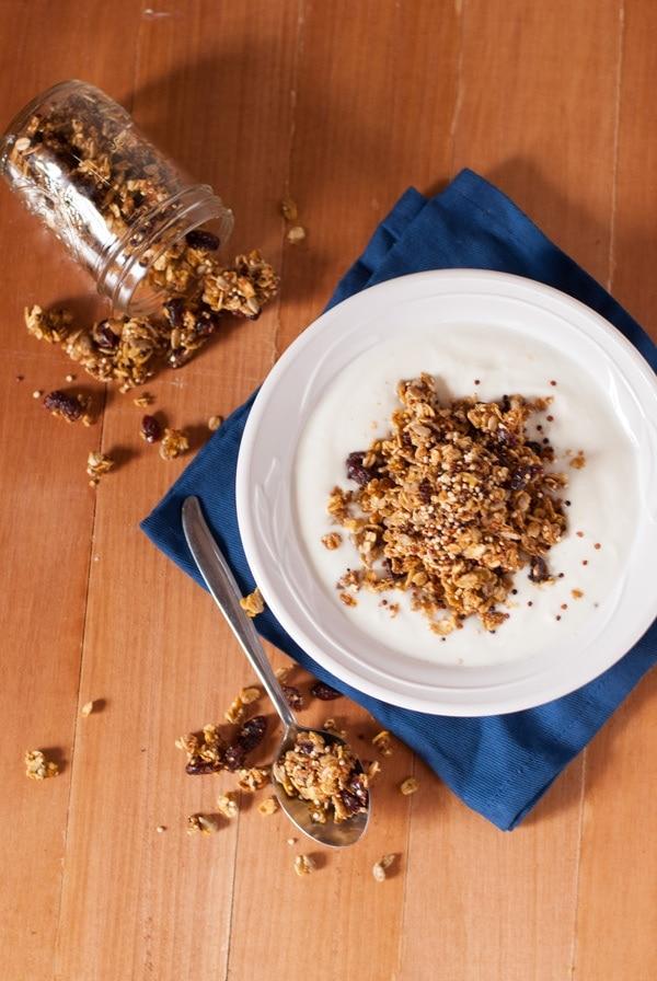 Skinny Quinoa Pumpkin Spice Granola   @cookiedesire