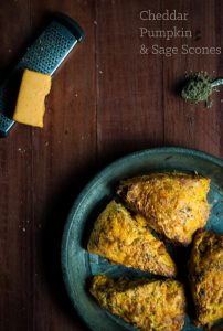 Cheddar pumpkin sage scones - what a deliciously awesome way to enjoy my favorite fall flavors.