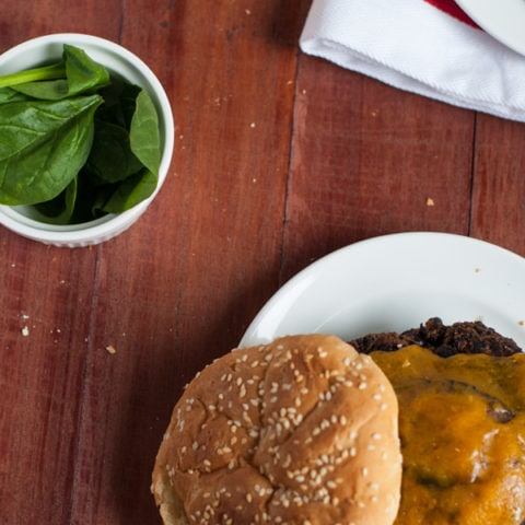 Delicious spicy black bean burgers