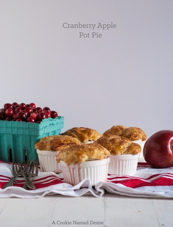 cranberry apple pot pie - a delicious and insanely easy dessert perfect for your Thanksgiving table