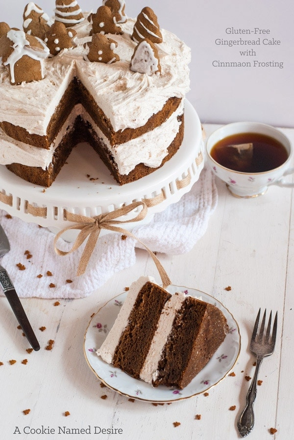 this gingerbread cake and those little gingerbread cookies! This cake ...