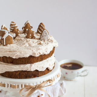 I love this gingerbread cake and those little gingerbread cookies! This cake is not only gluten-free, but it is super moist and has a ton of fresh ginger flavor. Can also be made with regular all-purppose flour with no recipe adjustments!