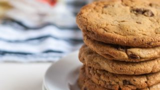 White Chocolate Peanut Butter Cookies with Candied Pecans (Gluten-Free)