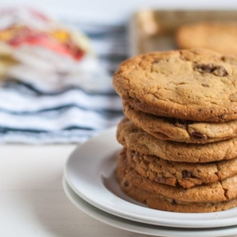 These white chocolate peanut butter cookies with candied pecans are literally the best cookies I've ever had. I'll never use another cookie recipe.