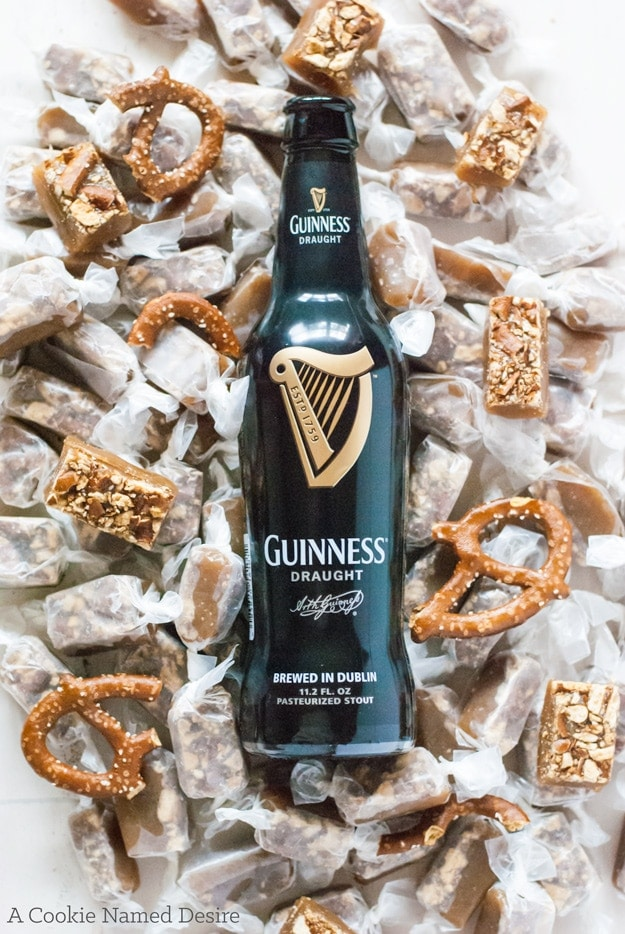 What a combination! These beer pretzel caramels are highly addictive and make a great any time gift