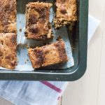 Snickerdoodle Chocolate Chip & Candied Chestnut Blondies