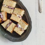 Pomegranate Curd cake sndwiches a simple and light winter dessert!