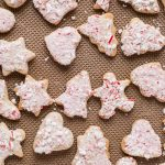 Soft Cinnamon Cut-Out Cookies with White Chocolate Peppermint