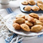 Dainty mini vanilla bean and rose madelines - perfect for any time of day