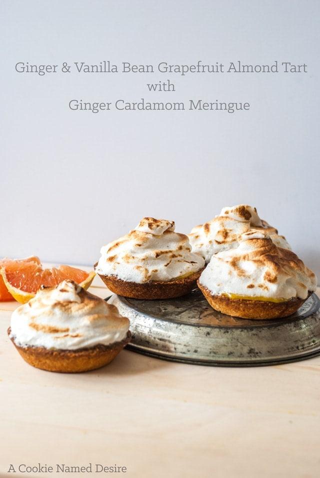 Ginger & vanilla bean grapefruit tart