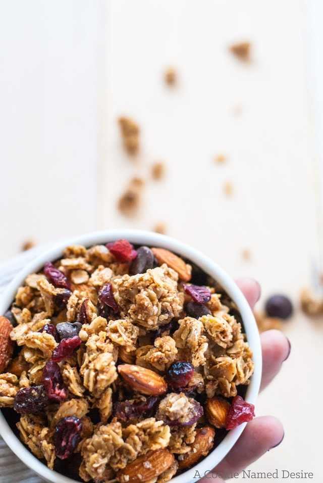 Addictive almond butter and jelly granola