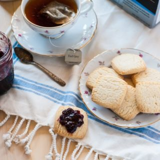 A rich afternoon tea made lighter with Truvia and Bigelow Tea #SweetWarmUp #Ad