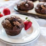 A graham chocolate covered strawberry muffin you're going to want to eat every day