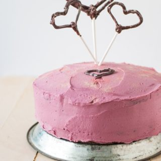 A ridiculously indulgent red wine velvet cake
