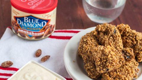 Skinny Smokehouse Almond Chicken Wings & Garlic Sauce