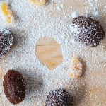 Chocolate Chili Madeleines with Candied Grapefruit