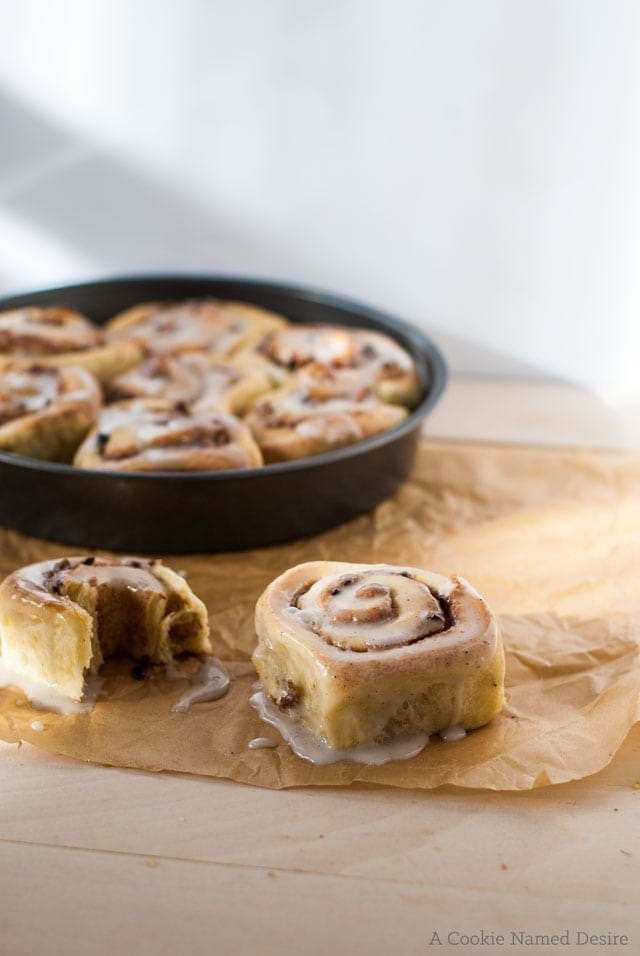 Marzipan brioche breakfast rolls